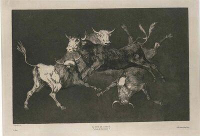 Francisco de Goya, 'Lluvia De Toros', 1815-1819