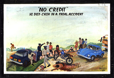 """Joseph Bertiers, '""""No Credit"""" He died cash in a fatal accident ', 1989"""