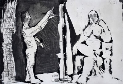 Pablo Picasso, 'The Painter and his Model | Le peintre et son modèle', 1964