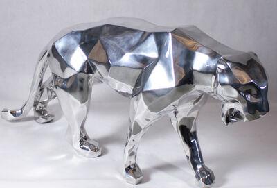 Richard Orlinski, 'Wild panther, aluminium'