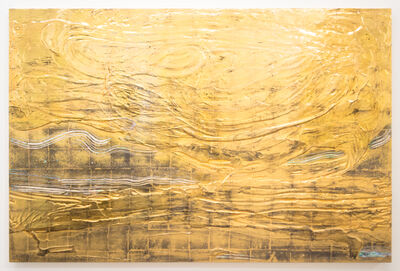 Nancy Lorenz, 'Gold Pour with Mother of Pearl', 2014