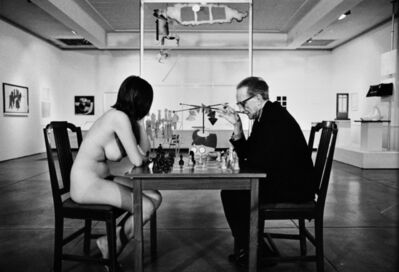 Julian Wasser, 'Duchamp Playing Chess with a Nude (Eve Babitz), Duchamp Retrospective, Pasadena Art Museum, 1963', 2015
