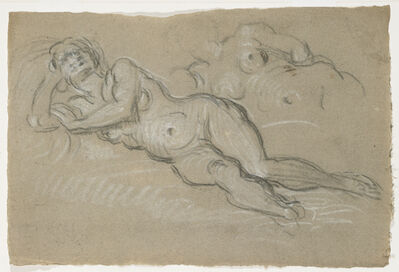 Domenico Tintoretto, 'Two Studies of a Reclining Female Nude', 1590-1610