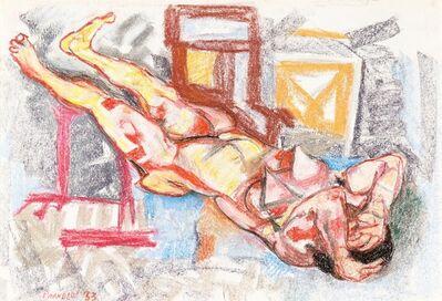 Fausto Pirandello, 'Nudo in un interno', 1953
