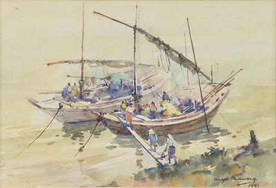Mya Thaung, 'Riverboats', 1991
