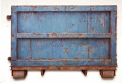 "Dan Witz, '""Dumpster (Blue) East Moline""', 2016"