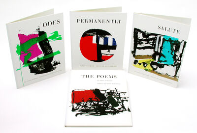 """Tiber Press, 'Limited Edition Four Volume Box Set (""""The Poems"""" by John Ashbery, prints by Joan Mitchell; """"Permanently"""" by Kenneth Koch, prints by Alfred Leslie; """"Odes"""" by Frank O'Hara, prints by Michael Goldberg; """"Salute"""" by James Schuyler, prints by Grace Hartigan)', 1960"""