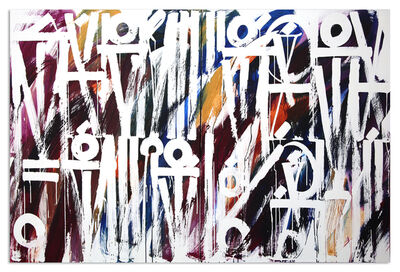 RETNA, 'The Scent of the Colour Autumn Diptych', 2017