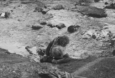 Mark Steinmetz, 'Knoxville, TN (man in creek)', 1992