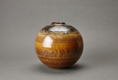 Miraku Kamei XV, 'Jar, tobikanna decoration'