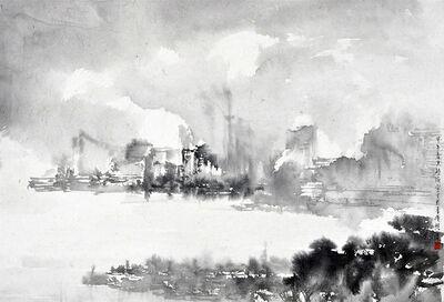 Hung Hoi, 'Victoria Harbour in Spring Fog I', 2014