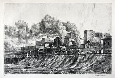 Reginald Marsh, 'Erie RR and Factories', 1930