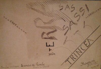 Angelo Rognoni, 'Lancio di Bombe', 1917