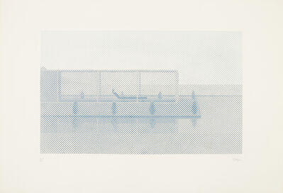 William Tillyer, 'Pool Blue', 1972