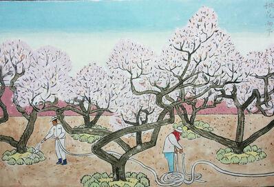 Tong 仝 Tianqing 天庆, '桃花雨下', 2014