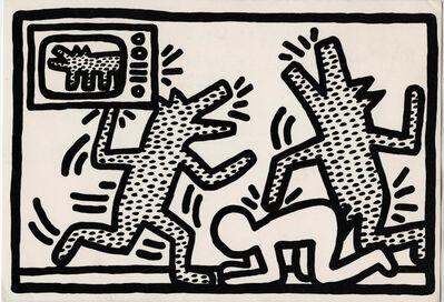 Keith Haring, 'Keith Haring at Barbara Gladstone 1982 (Keith Haring '6 Lithographs')', 1982