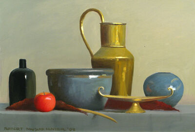 Robert Douglas Hunter, 'Polished Brass, Crockery and Fruit', 2008