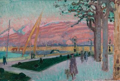 Maurice Denis, 'Vue de Genève du quai du Mont Blanc', ca. 1917