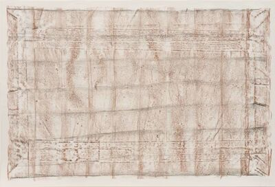 Robert Overby, 'Brown and Black Rubbings, no. 3, from the New York Color Rubbings series', 1972