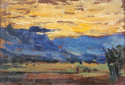 Arturo Tosi, 'Paesaggio con cielo giallo', early twentieth century