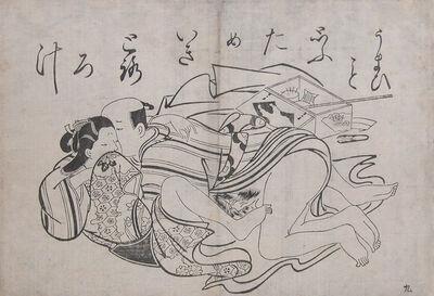 Okumura Masanobu, 'Delicious, Sigh, like Yam Soup', ca. 1720