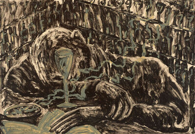 Miquel Barceló, 'Jeune homme ivre dans bar', 1983