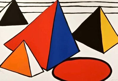 Alexander Calder, 'Four Great Pyramids', 1970-2000