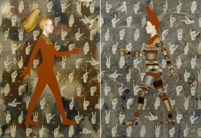Igor & Marina, 'Walkers XI - I Wanna Hold Your Hand (diptych)', 2009
