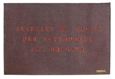 Vincenzo Agnetti, 'Ritratto di missionario (Portrait of a missionary)', 1971