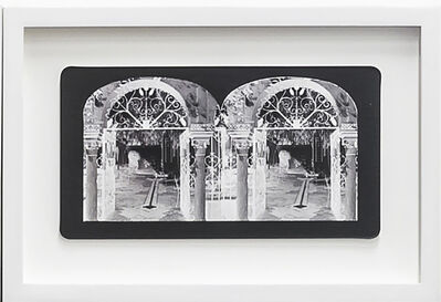 Penelope Stewart, 'Ruin Gazing Vol 1, paradise gardens - No: 005 - Gates to the Courtyard at Lotusland, Santa Barbara, framed stereoscopic cards created by artist', 2015