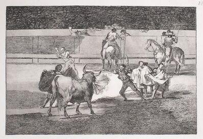 Francisco de Goya, 'Banderillas de fuego (1st edition)', 1816