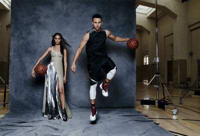 Patrick Demarchelier, 'Joan Smalls and Steph Curry, California, Vogue', 2016