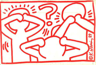 Keith Haring, 'Keith Haring Act Up mailer ', 1989