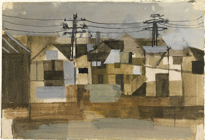 Keith Vaughan, 'Houses with Telegraph Poles', ca. 1948