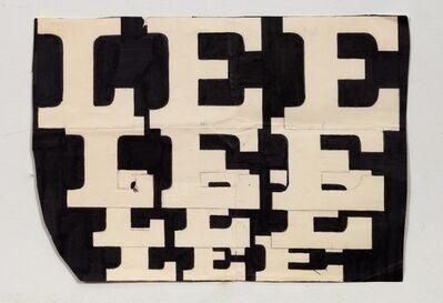 Lee Quinones, 'Lee Font Study #3', 1978