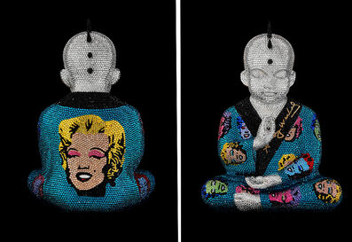 "Metis Atash, 'PUNKBUDDHA ""MARYLIN in blue zirkon I"" feat. Warhol', 2019"