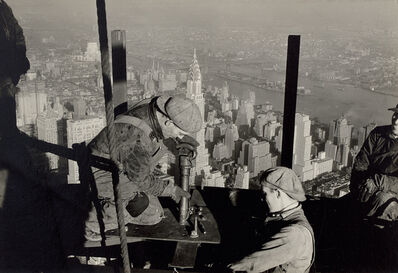 Lewis Wickes Hine, 'Top of mooring-mast on Empire State Building', 1931