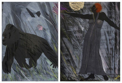 Emma Amos, 'Josephine & The Mountain Gorilla (diptych)', 1984