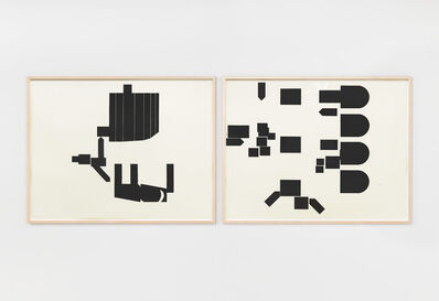 Barry Le Va, '9g Wagner Plan Views; Wall and Floor Installation (ICA Variations)', 2004