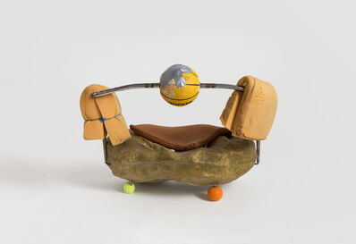 Zhou Yilun 周轶伦, 'Sofa Sculpture with Basketball and Scholar's Rocks', 2019