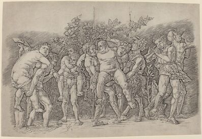 Andrea Mantegna, 'Bacchanal with Silenus', ca. 1475/1480