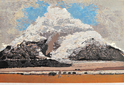 HE KUN, 'The opening Mountain', 2014