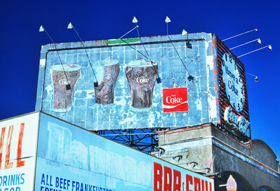 Mitchell Funk, 'Coney Island Vintage Coke Sign with Dramatic Light', 1978