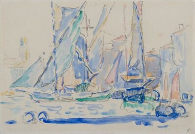 Paul Signac, 'Saint-Tropez, Tartanes au port ', 1905