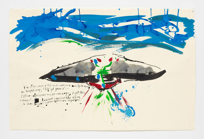 Raymond Pettibon, 'No Title (The after-sense o'...)', 2018