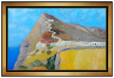 Guy Bardone, 'Guy Bardone Painting Original Oil On Canvas Mountain Landscape Signed French Art', 20th Century