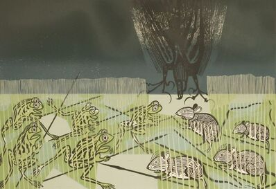 Edward Bawden, ''AESOP'S FABLES: FROG, MOUSE AND KITE''