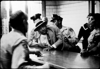 Charles Moore, 'Arrest of Martin Luther King Jr. at Police Department, Montgomery, AL', 1958