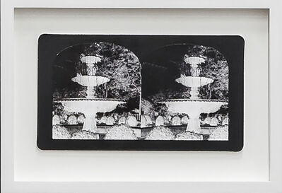 Penelope Stewart, 'Ruin Gazing Vol 1, paradise gardens - No: 023 - Fountain in the Village, New York, framed stereoscopic cards created by artist', 2015