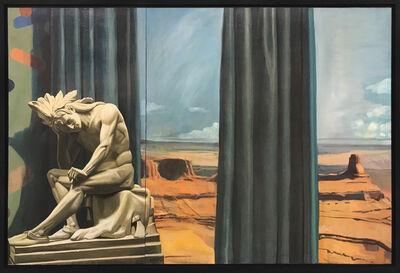 Mark Beard, 'Western Panorama with Sculpture of Native American Warrior', 1982